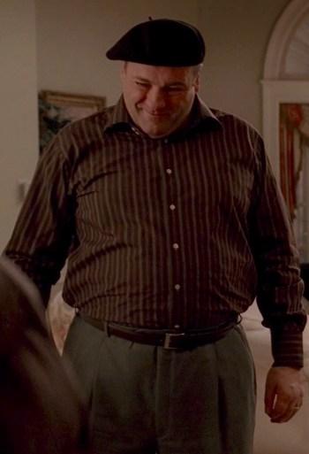 """James Gandolfini as Tony Soprano on The Sopranos (Episode 6.12: """"Kaisha"""")"""