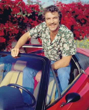 Tom Selleck as Thomas Magnum in a promotional shot for Magnum, P.I.