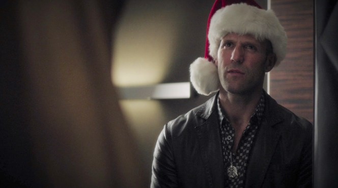 So what if the holidays are over? Nick brings the yuletide festivities to Danny DeMarco's suite by donning a non-threatening Santa hat.