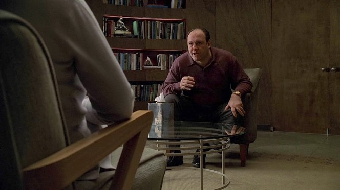 """""""Oh, and by that I'm supposed to know she's gonna throw a fuckin' roast beef at my head?"""" Tony runs the emotional gamut during his therapy session with Dr. Melfi that closes out """"Pine Barrens"""" (Episode 3.11)."""