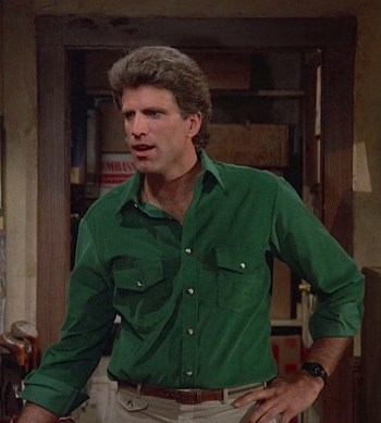 "Ted Danson as Sam Malone on Cheers (Episode 2.10: ""How Do I Love Thee? Let Me Call You Back"")"