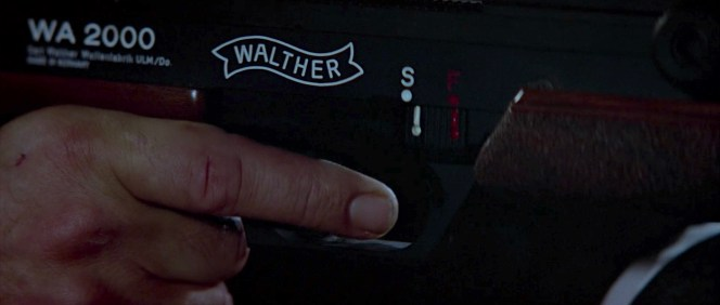 The Walther WA 2000, as clearly branded in this intentionally framed shot, has a two-stage trigger for greater shooter control.