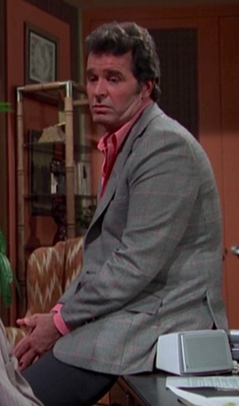 """James Garner as Jim Rockford on The Rockford Files (Episode 2.21: """"Foul on the First Play"""")"""