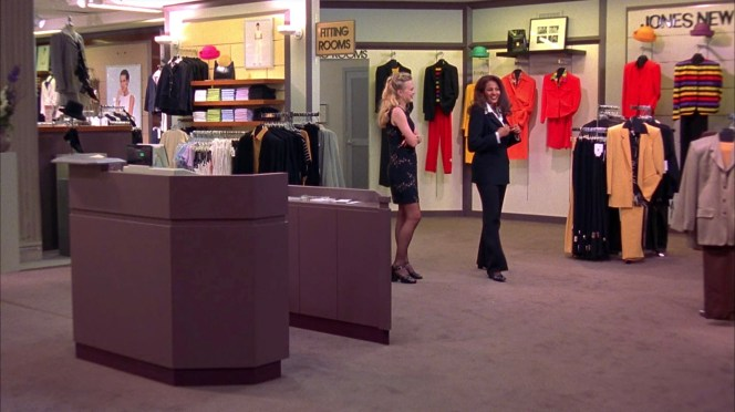 "Though rebranded as ""Billingsley"", the department store where Jackie buys her famous suit is clearly a Macy's, specifically the Jones New York section of the Del Amo Fashion Center mall location."