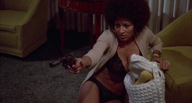 Pam Grier shot her way to stardom in Coffy nearly a quarter century before Jackie Brown was released.
