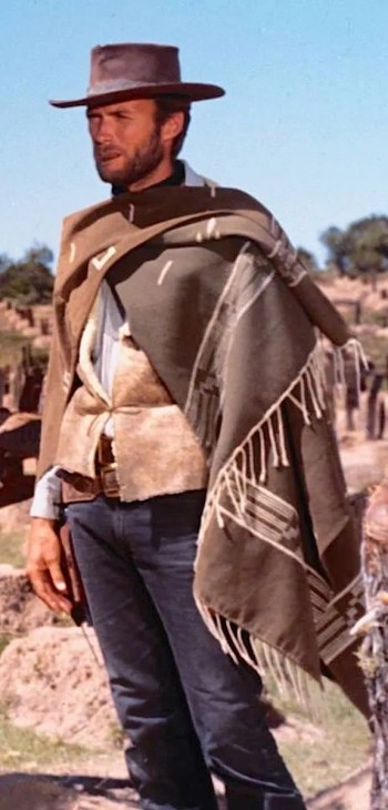 "Clint Eastwood as Blondie, aka ""the Man with No Name"", in The Good, the Bad, and the Ugly (1966)"