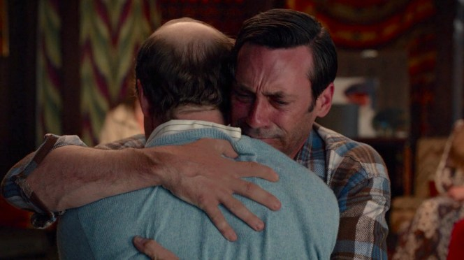 Some Mad Men fans may have spent seven seasons secretly shipping a Don and Joan romance, but this hug with Leonard was the embrace we never knew we needed.