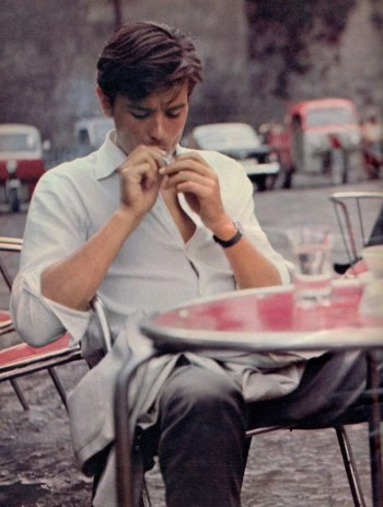 Alain Delon as Tom Ripley in Purple Noon (1960)