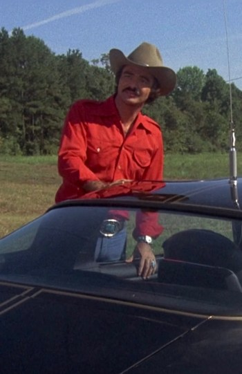 "Burt Reynolds as the Trans Am-driving ""Bandit"" in Smokey and the Bandit (1977)"