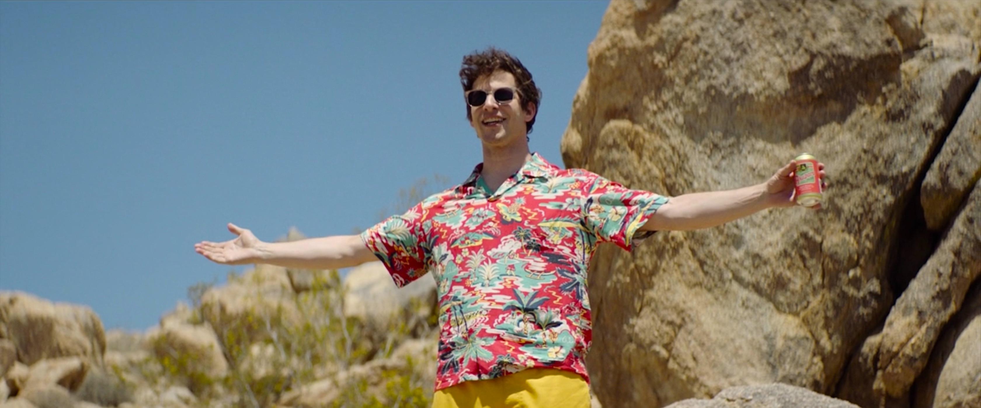 Palm Springs: Andy Samberg's All-Day Aloha Shirt » BAMF Style