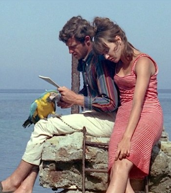 Jean-Paul Belmondo and Anna Karina in Pierrot le Fou (1965)