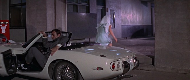 "Bond lives up to Tiger Tanaka's observation that not only will he ""get into anything with any girl"", he will also follow her out of said thing and allow himself to be easily duped into falling through a trapdoor."