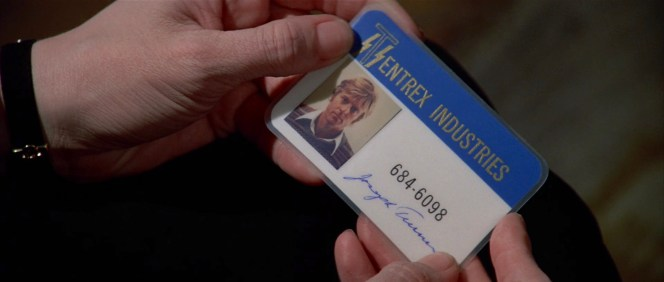 "In Three Days of the Condor, Joe Turner's ID for the CIA cover organization ""Tentrex Industries"" features Redford wearing his sweater from The Way We Were, though his hair has grown out to Condor length."