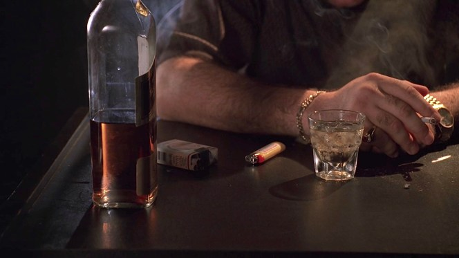 "Tony's scotch and cigarettes in ""Nobody Knows Anything"". Is he bracing for the decision he has to make or merely for his conversation with Paulie?"
