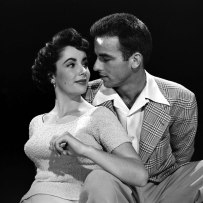 Studio portrait of Elizabeth Taylor and Montgomery Clift to promote A Place in the Sun. Photo by Peter Stackpole for LIFE.