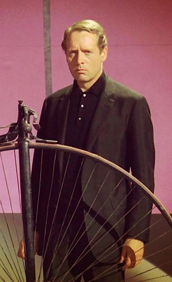 "Patrick McGoohan as ""Number Six"" on The Prisoner (Episode 1: ""Arrival"")"