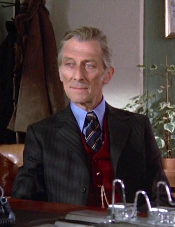 Peter Cushing as Lorrimer Van Helsing in Dracula A.D. 1972 (1972)