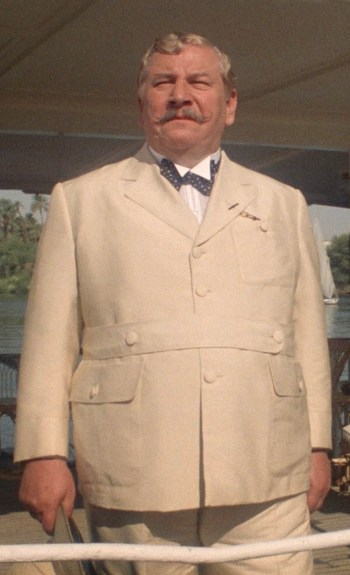 Peter Ustinov as Hercule Poirot in Death on the Nile (1978)