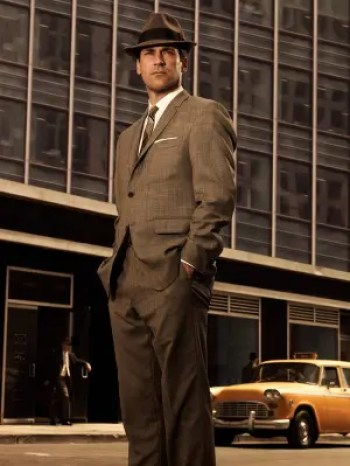 Jon Hamm as Don Draper in a promotion for season 3 of Mad Men
