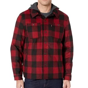 Men's Buffalo Plaid Two Pocket Hooded Shirt Jacket from Levi's