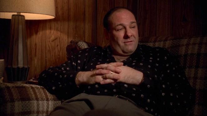 James Gandolfini as Tony Soprano on The Sopranos