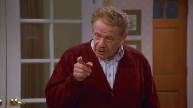 Jerry Stiller as Frank Costanza on Seinfeld