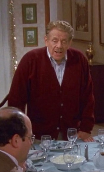 "Jerry Stiller as Frank Costanza on Seinfeld (Episode 9.10: ""The Strike"")"