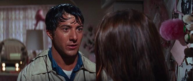 Dustin Hoffman as Benjamin Braddock in The Graduate (1967)