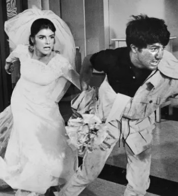 Katharine Ross and Dustin Hoffman in The Graduate (1967)