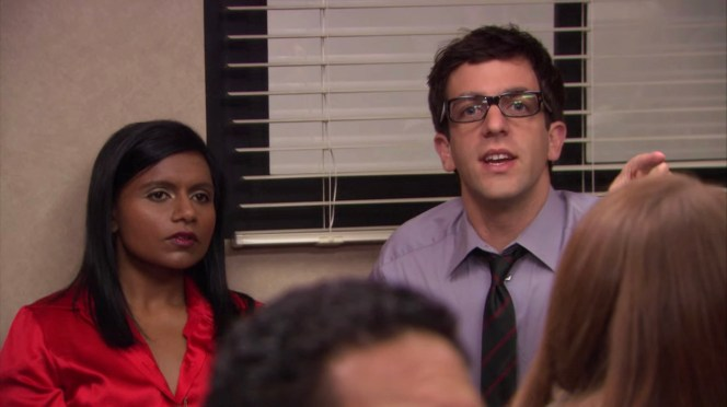 Mindy Kaling and B.J. Novak in The Office