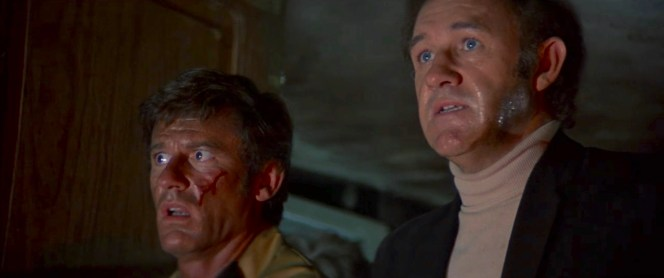Roddy McDowall and Gene Hackman in The Poseidon Adventure (1972)