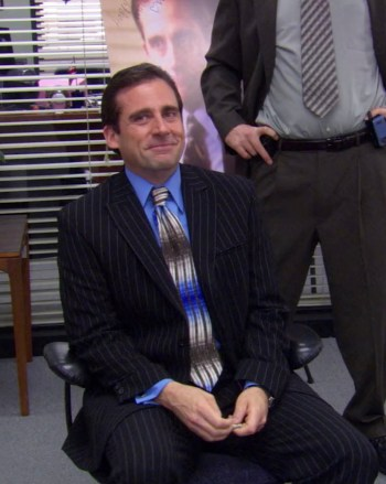 "Steve Carell as Michael Scott on The Office (Episode 2.19: ""Michael's Birthday"")"