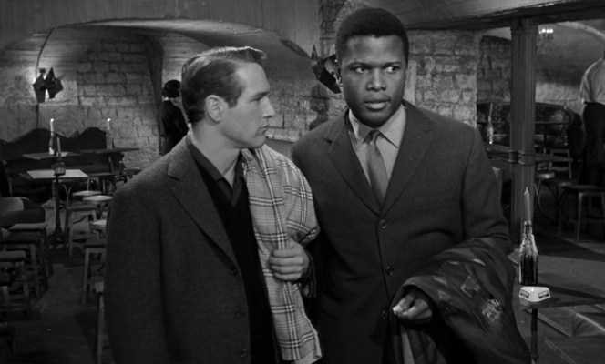 Paul Newman and Sidney Poitier in Paris Blues (1961)