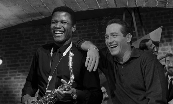 Sidney Poitier and Paul Newman in Paris Blues (1961)