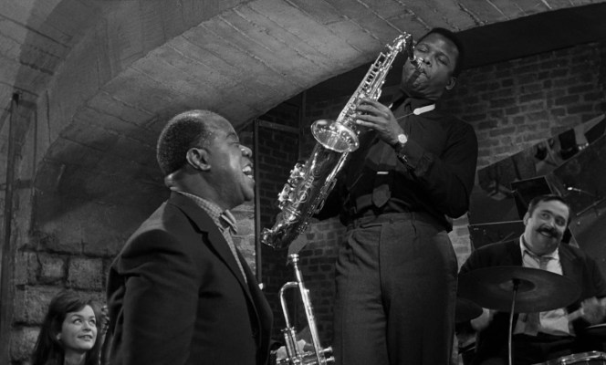 Louis Armstrong and Sidney Poitier in Paris Blues (1961)