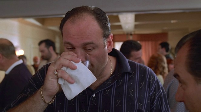 "James Gandolfini as Tony Soprano on The Sopranos (Episode 2.11: ""House Arrest"")"
