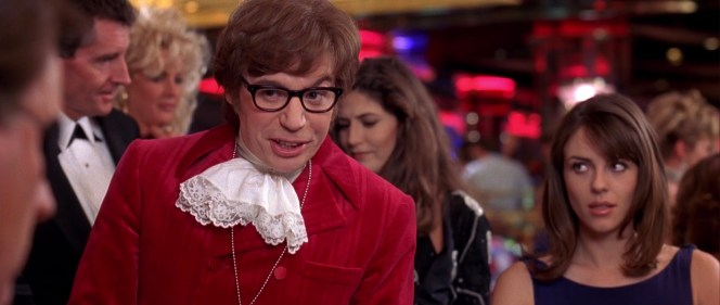 Mike Myers and Elizabeth Hurley in Austin Powers: International Man of Mystery (1997)