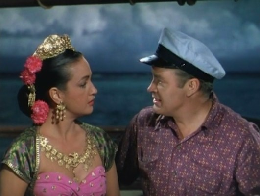 Dorothy Lamour and Bob Hope in Road to Bali (1952)