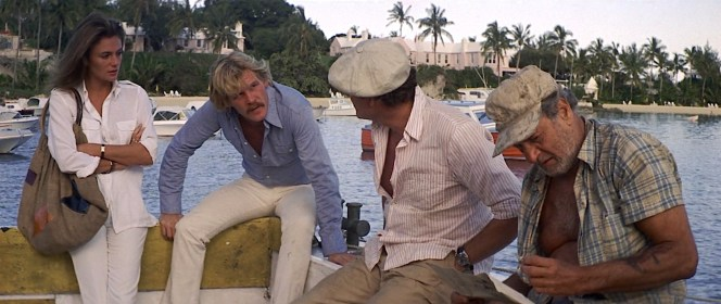 Jacqueline Bisset, Nick Nolte, Robert Shaw, and Eli Wallach in The Deep (1977)