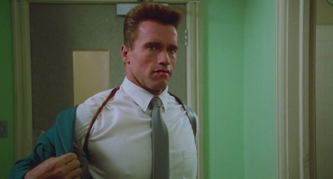 Arnold Schwarzenegger as Captain Ivan Danko in Red Heat (1988)