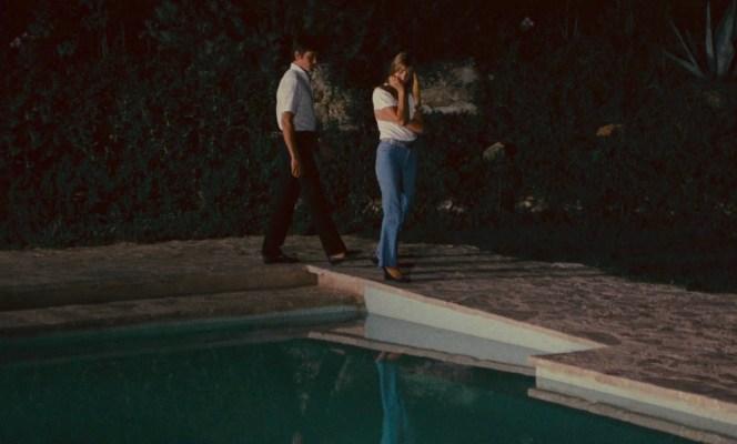 Alain Delon and Jane Birkin in La Piscine (1969)