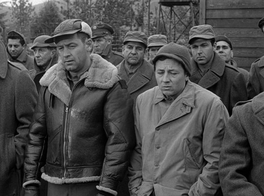 William Holden and Gil Stratton in Stalag 17 (1953)