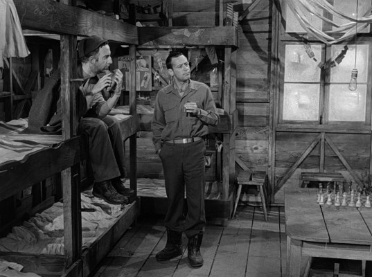 Robinson Stone and William Holden in Stalag 17 (1953)