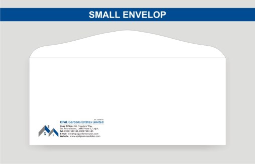 Small 4 by 9 Envelop