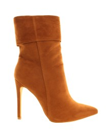 AX PARIS - TAN HIGH ANKLE ALANA POINTED BOOT - £49.99