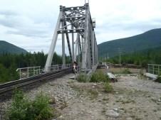 BAM railway bridge crossing.