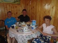 Breakfast in Yakutsk with Nicks mum