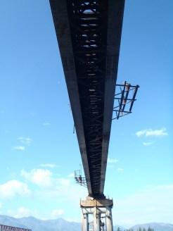 Under the Vitim bridge.