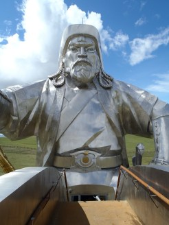 Gengis statue face from the maine of his horse