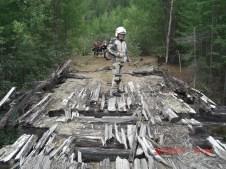 Kev on BAM wooden bridge.